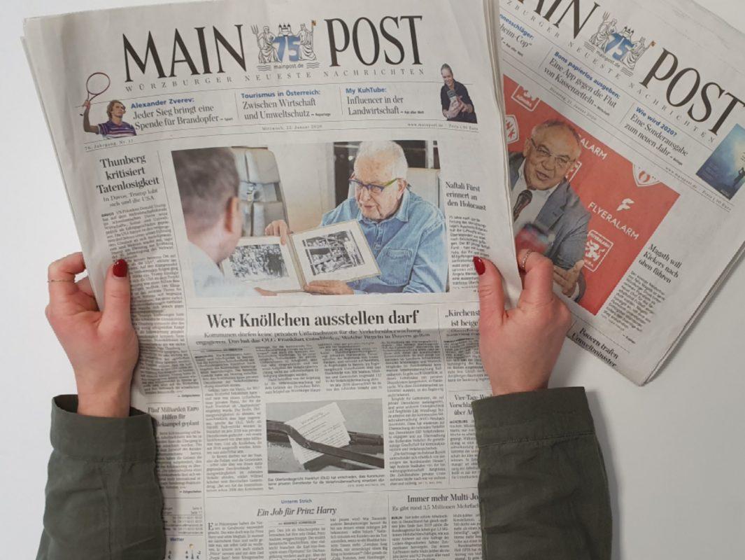 Die Main-Post liefert spannende Geschichten aus Mainfranken. Foto: Laura Göpfert