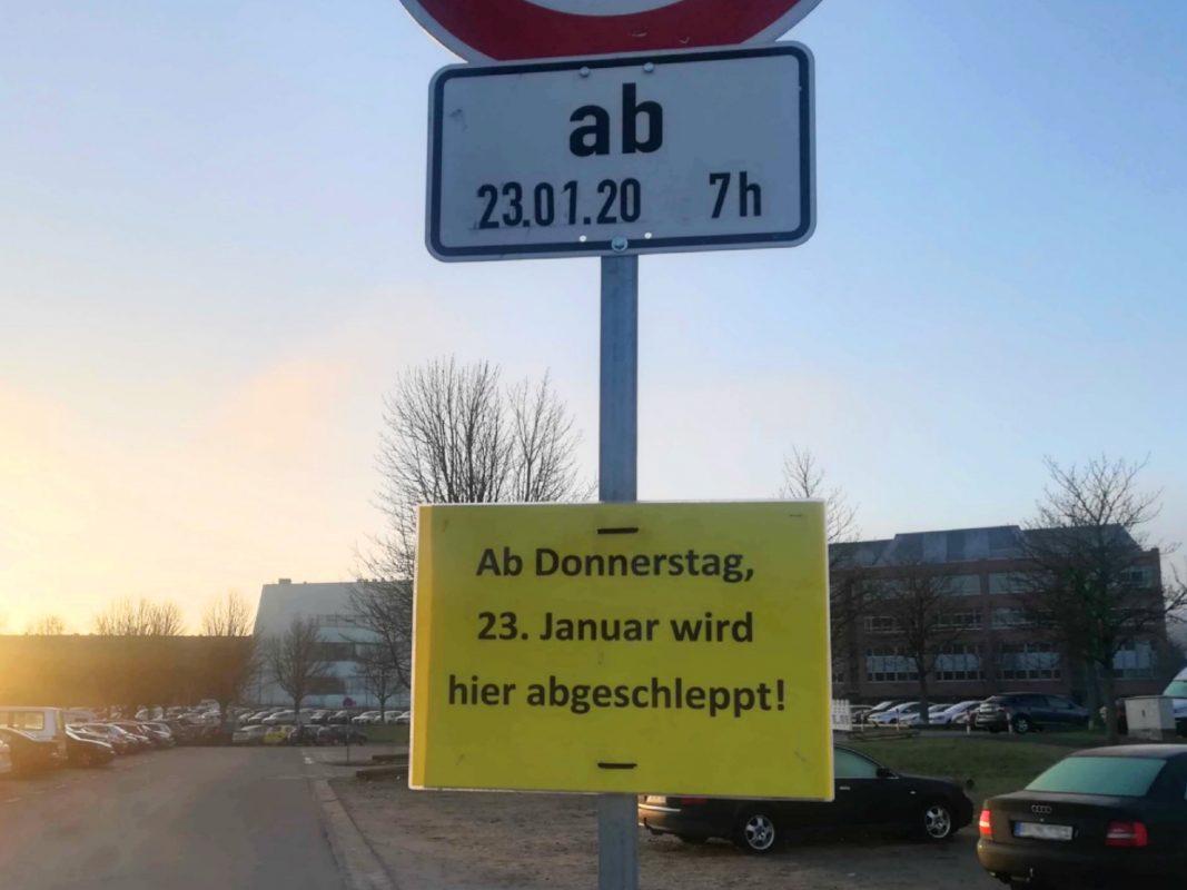Ab dem 23.01.20 gibt es Einschränkungen auf dem Talavera-Parkplatz. Foto: Jessica Hänse