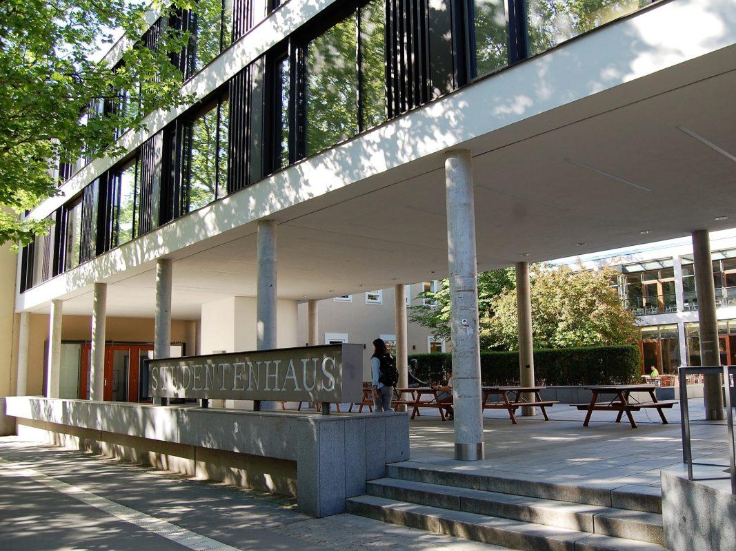Das Studentenhaus am Exerzierplatz mit Burse und Stadtmensa. Foto: Studentenwerk Würzburg/ Andrea Bala