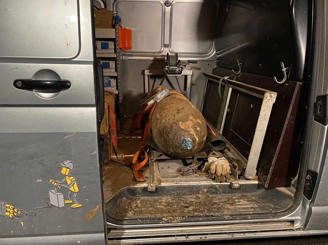 Die 250kg Fliegerbombe konnte entschärft werden. Foto: Jessica Hänse