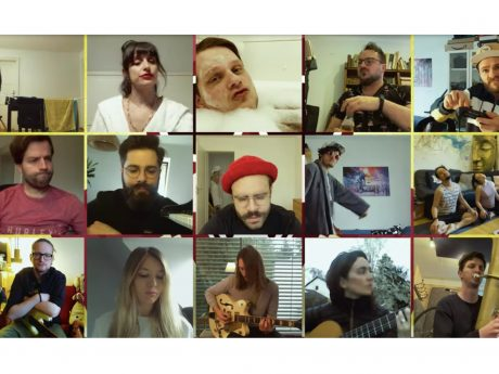 15 junge Kreative haben zusammen einen Quarantäne-Song aufgenommen. Foto: Screenshot Das Ding ausm Sumpf
