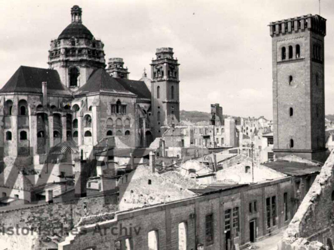 Stift Haug nach dem Weltkrieg im Jahr 1948. Foto: Historisches Archiv der WVV