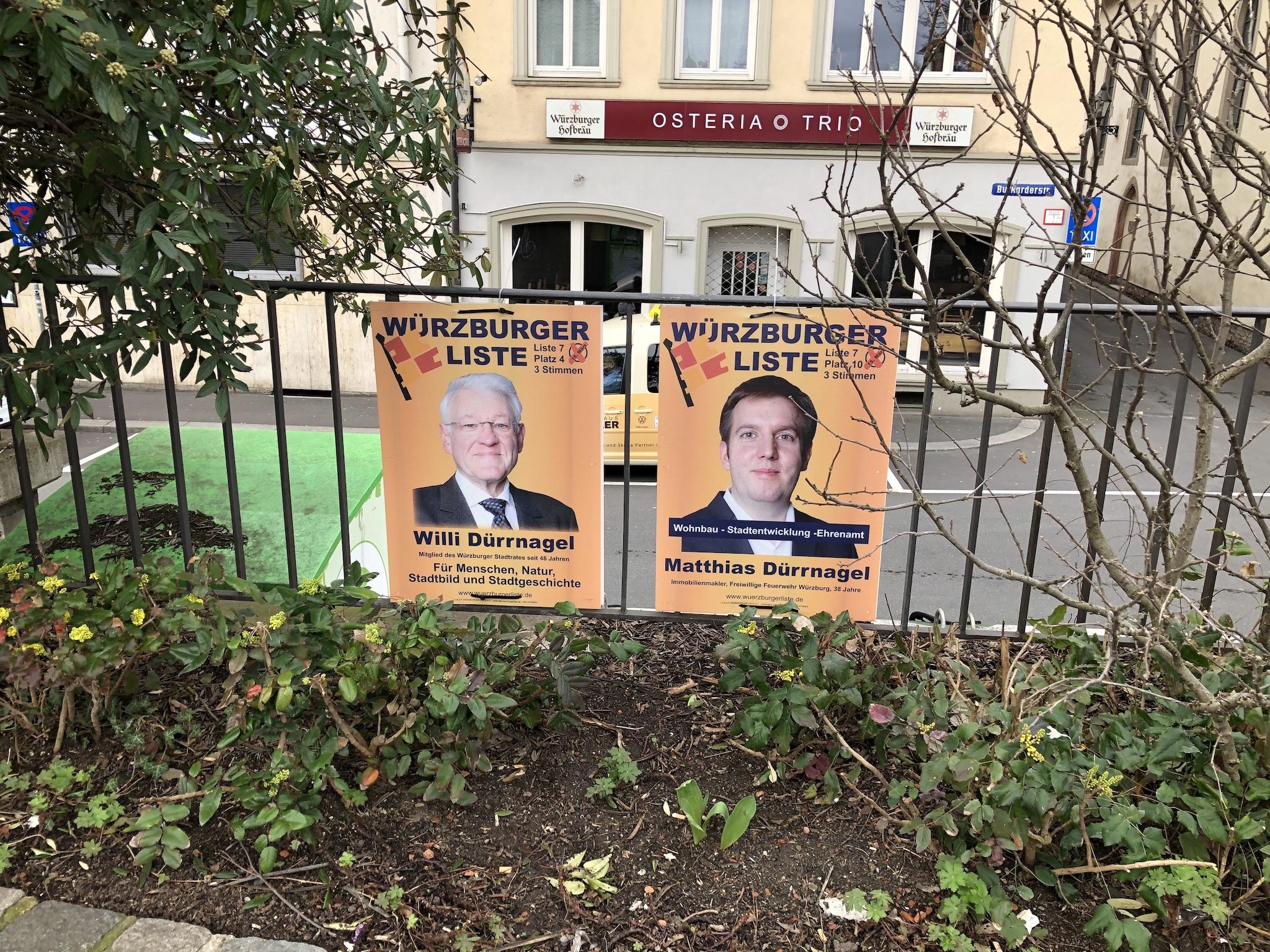 Willi und Matthias Dürrnagel kandidieren für die Würzburger Liste. Foto: Katharina Kraus