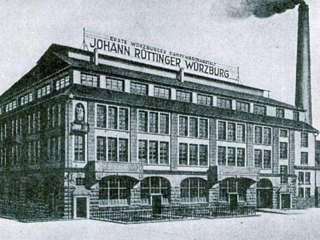 Das Gebäude der Johann Rüttinger Dampfwaschanlage in der Zellerau. Archiv: Willi Dürrnagel