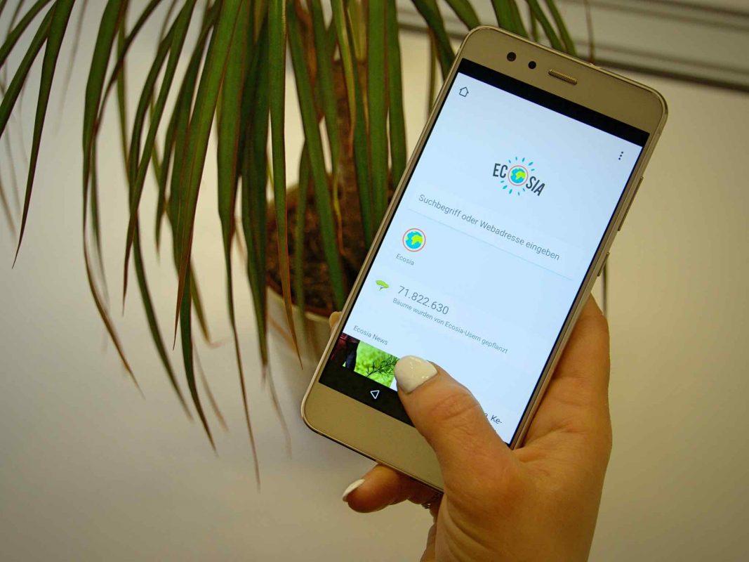 Die App Ecosia. Foto: Jessica Hänse