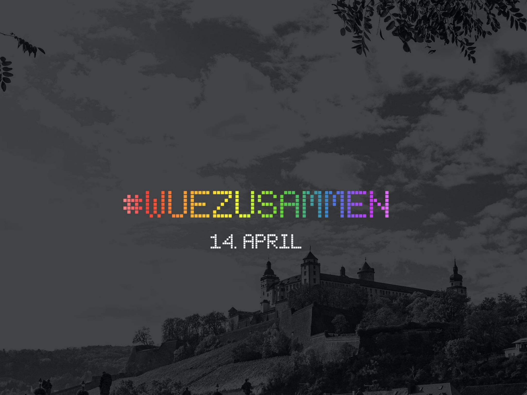 Die Aktion #WUEZUSAMMEN am 14. April. Grafik: 3WM