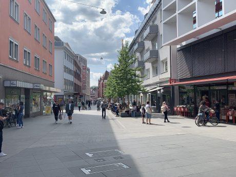 Die Würzburger Innenstadt nach der Wiederöffnung des Einzelhandels. Foto: Nico Jahnel