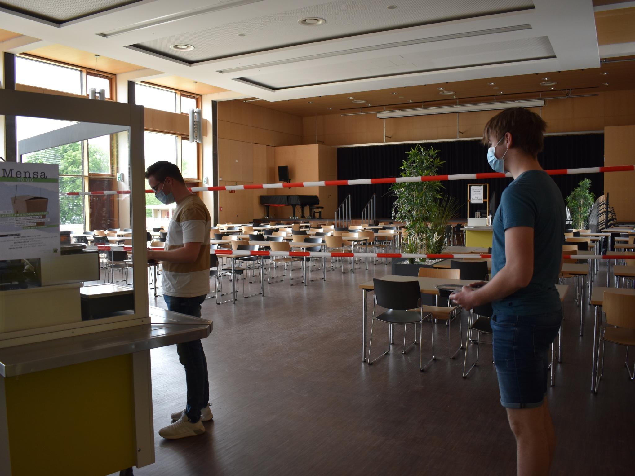 Abstandsregelungen sind auch in der Mensa einzuhalten. Foto: Studentenwerk Würzburg