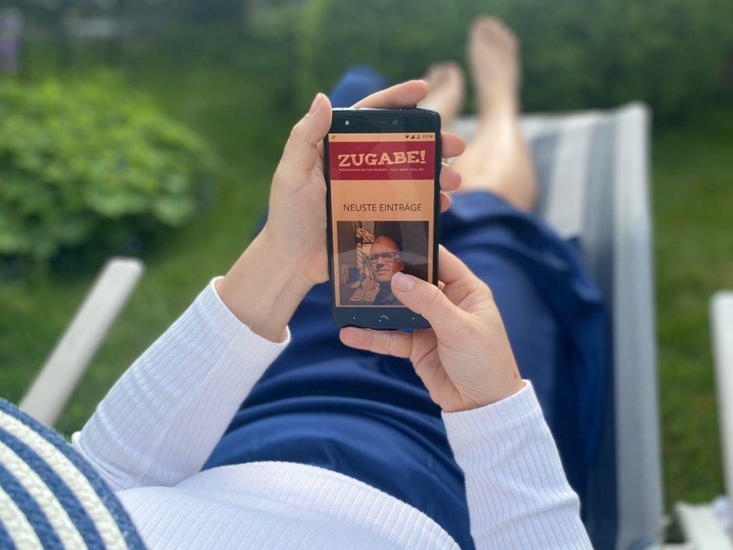 """""""Zugabe! Digital"""" stellt das vielfältige virtuelle Kulturangebot Würzburgs gebündelt auf einem eigenen Portal zur Verfügung. Foto: Stadt Würzburg"""