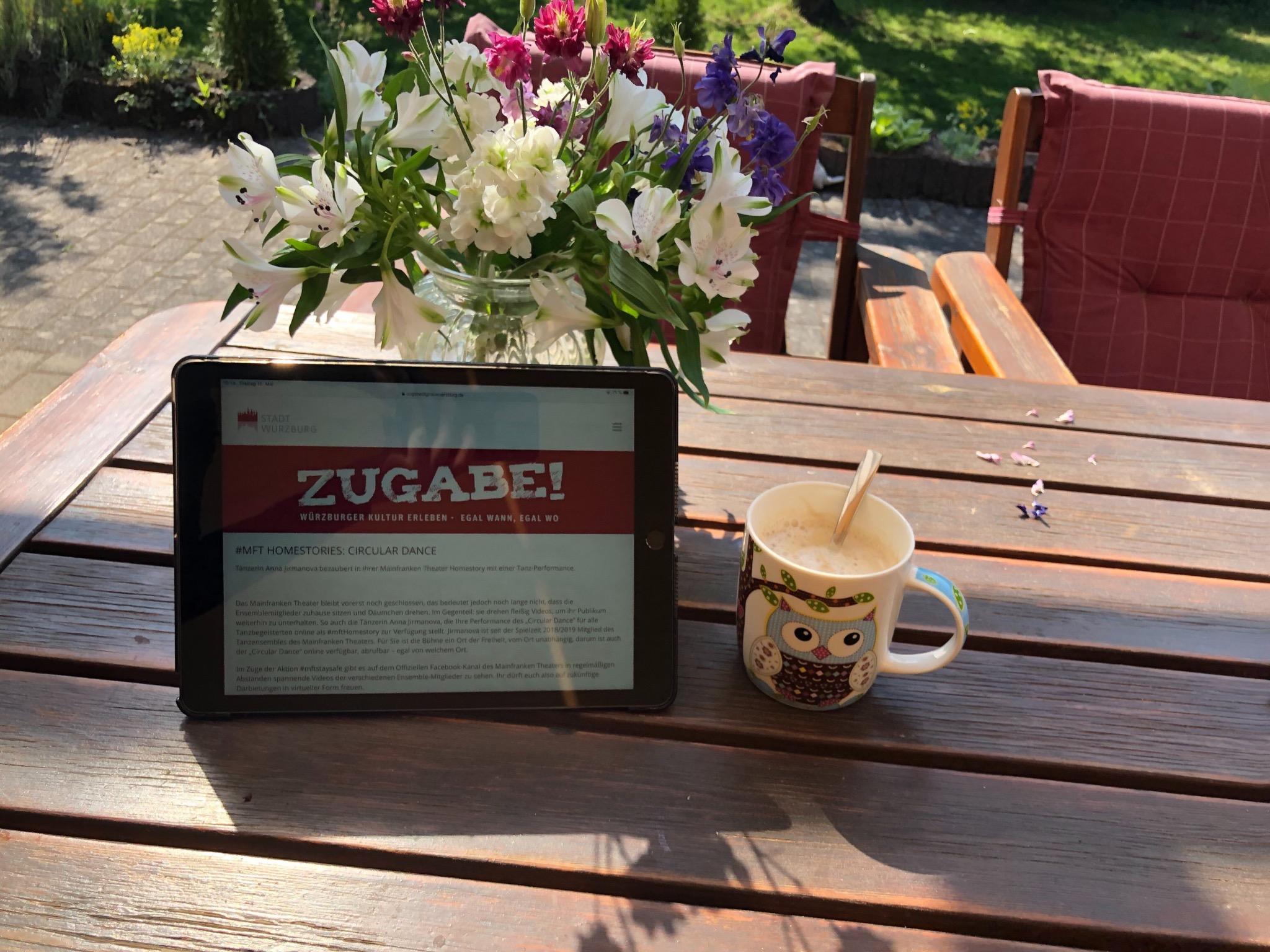 Trotz Corona-Krise Kultur zuhause erleben mit Zugabe! Digital. Foto: Stadt Würzburg