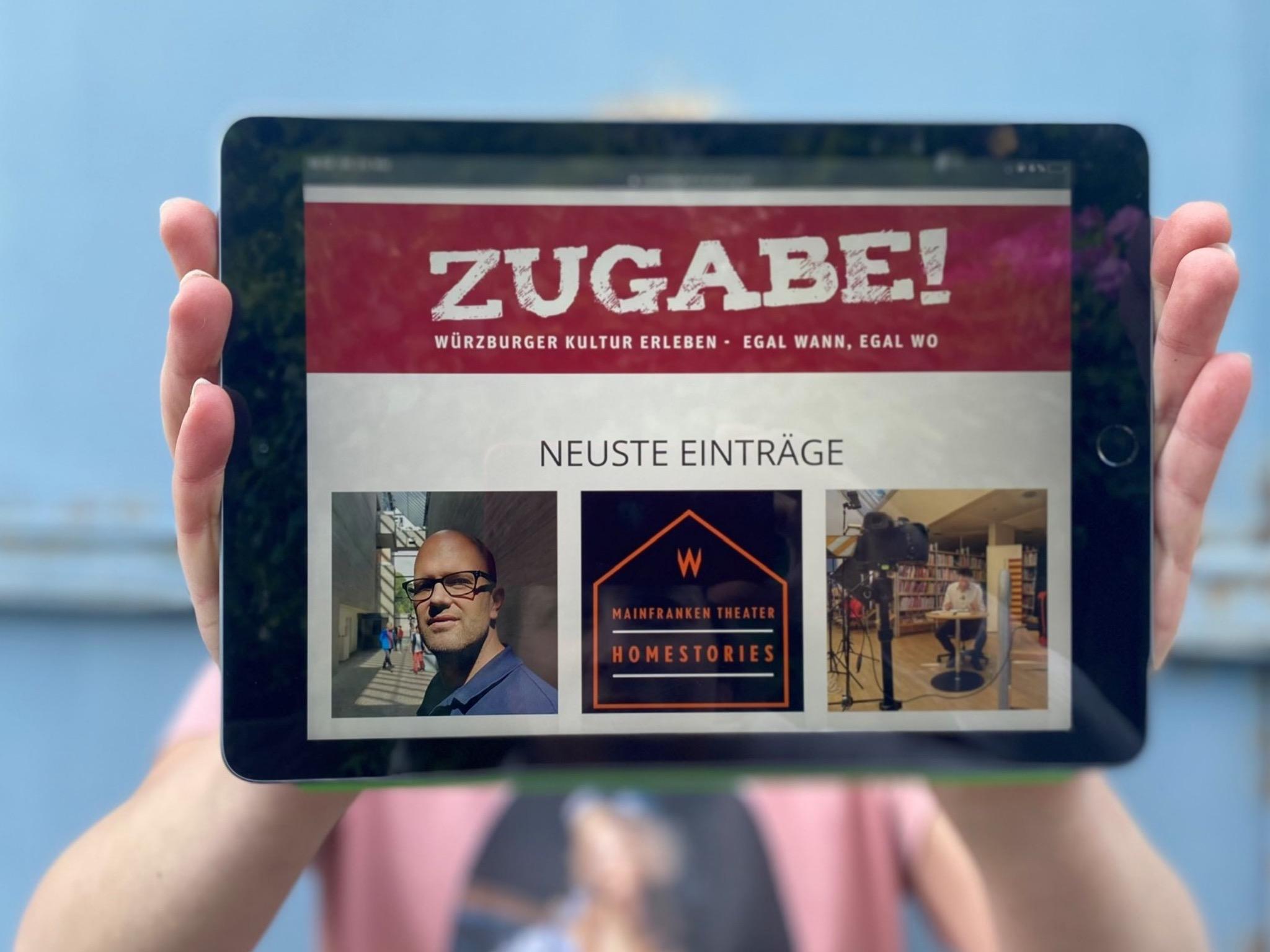 """Die Stadt Würzburg hat mit """"Zugabe! Digital"""" eine neue Kulturplattform geschaffen. Foto: Stadt Würzburg"""