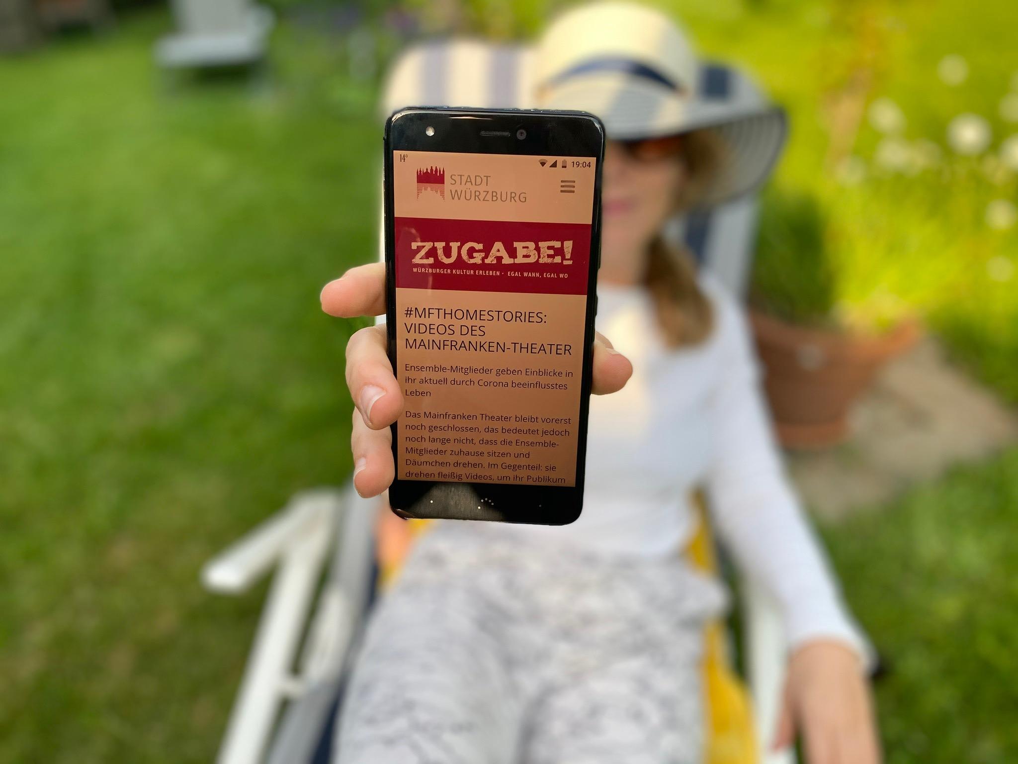 Mit dem Onlineportal Zugabe! Digital, Kultur zuhause erleben. Foto: Stadt Würzburg