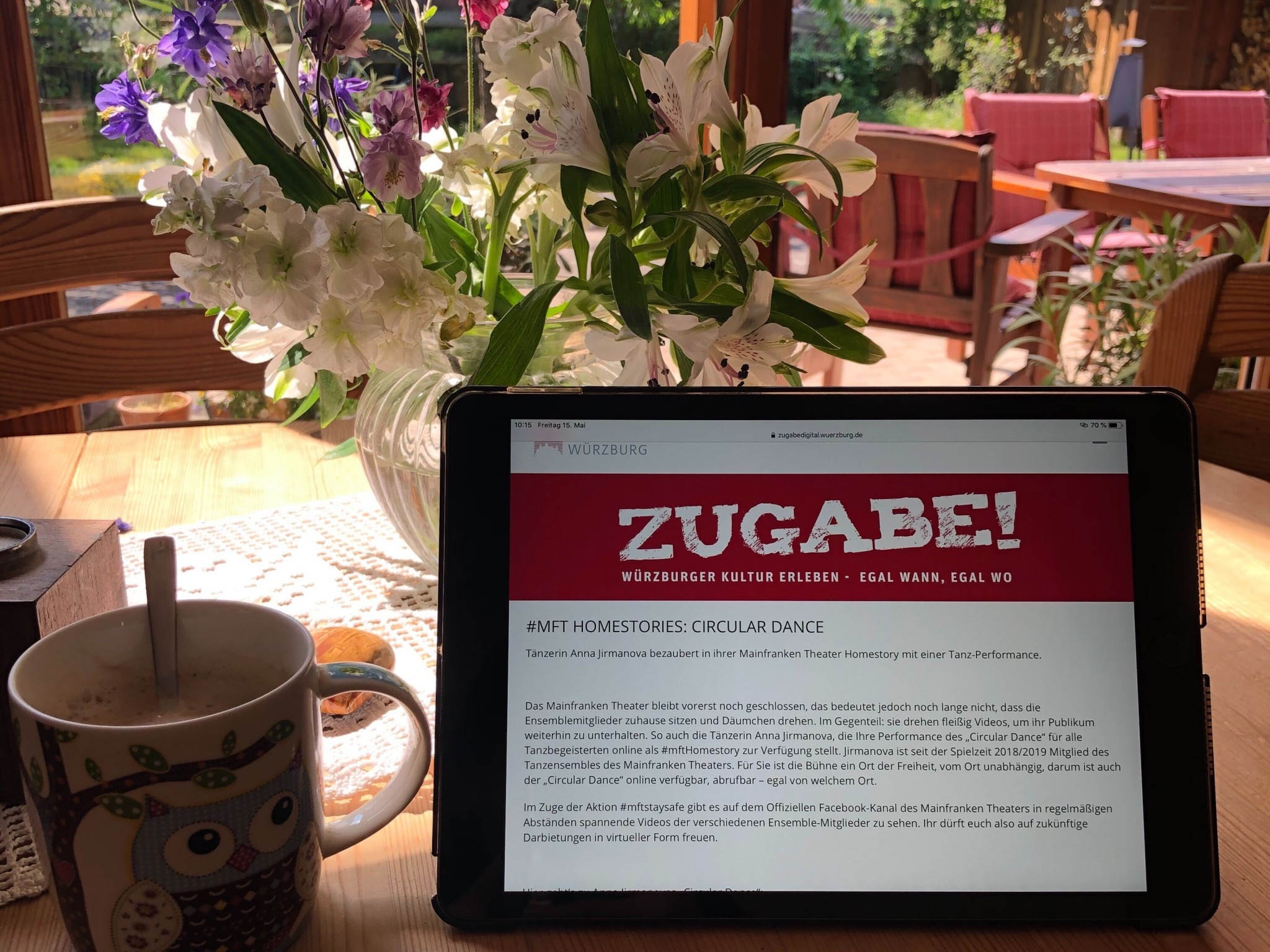 "Trotz Corona-Krise kann man mit ""Zugabe! Digital"" Würzburgs Kultur erleben. Foto: Stadt Würzburg"