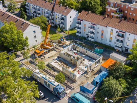 Der Neubau der Holz-Hybridhäuser in der Zellerau startet. Foto: xtrakt media Thomas Düchtel