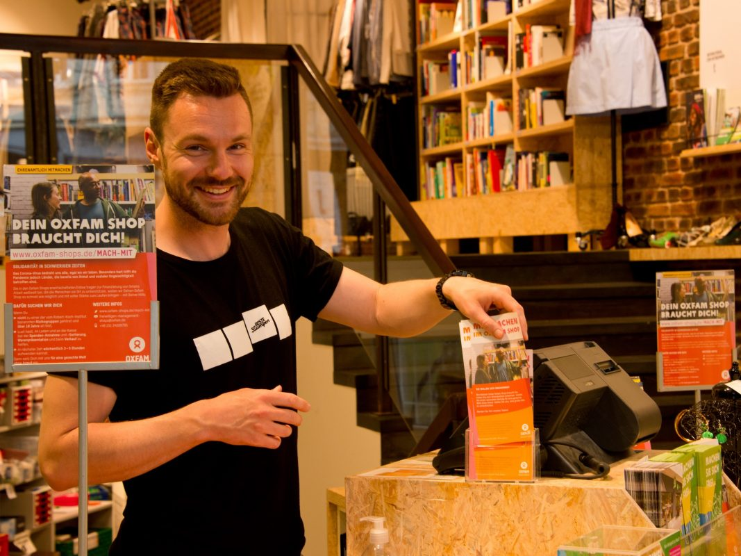Shopreferent Jonas Lumpe. Bild: Nikolai Link.
