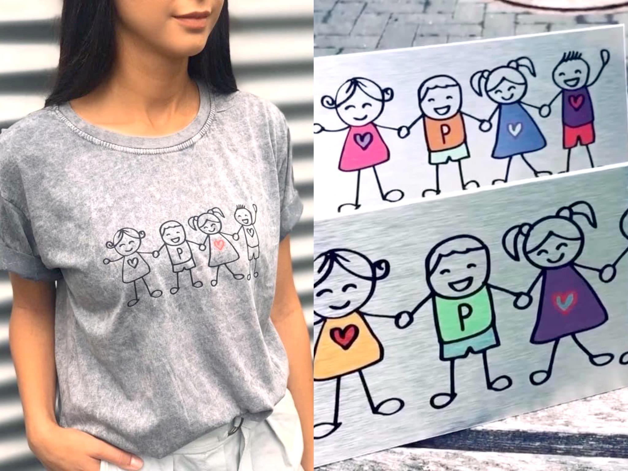 Mit den Pablo T-Shirts werden Spenden für den Kiwi e.V. gesammelt. Foto: Mainglück Mode