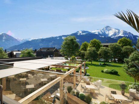 Bei diesem Ausblick kann man die Seele baumeln lassen. Foto: Sportressort Alpenblick