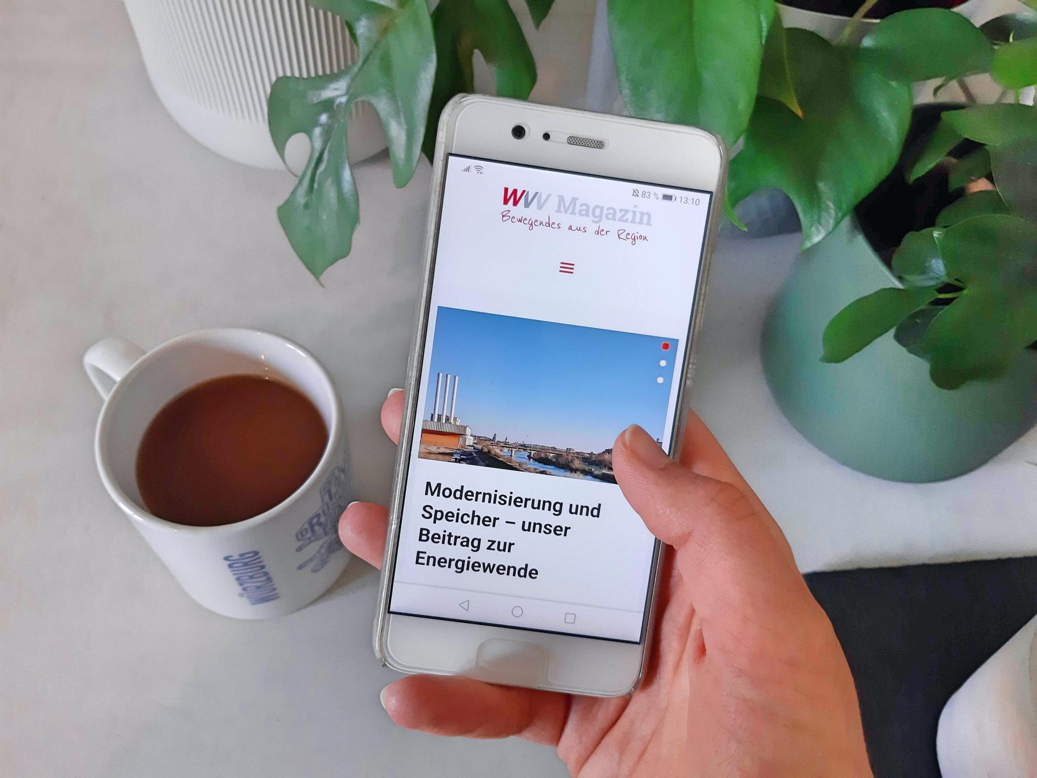 """Über die """"Meine WVV""""-App kann der Blog der WVV bequem über das Smartphone gelesen werden! Foto: Inka"""