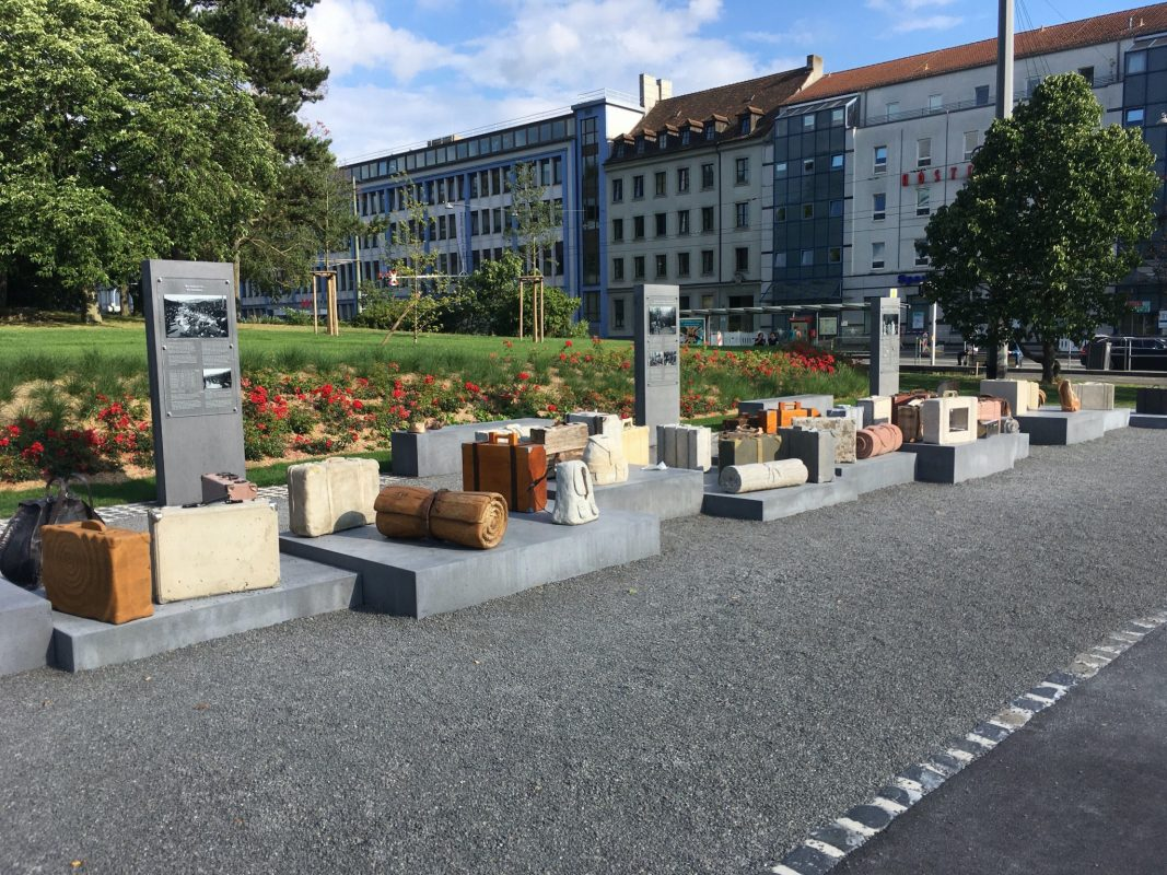 "Das Denkmal ""Deportationen am Hauptbahnhof"". Foto: Jacob Grimm"