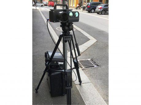 Die neue Geschwindigkeitsmessanlage des Kommunalen Ordnungsdienstes Würzburg im mobilen Test. Foto: Stadt Würzburg/Verkehrsüberwachung