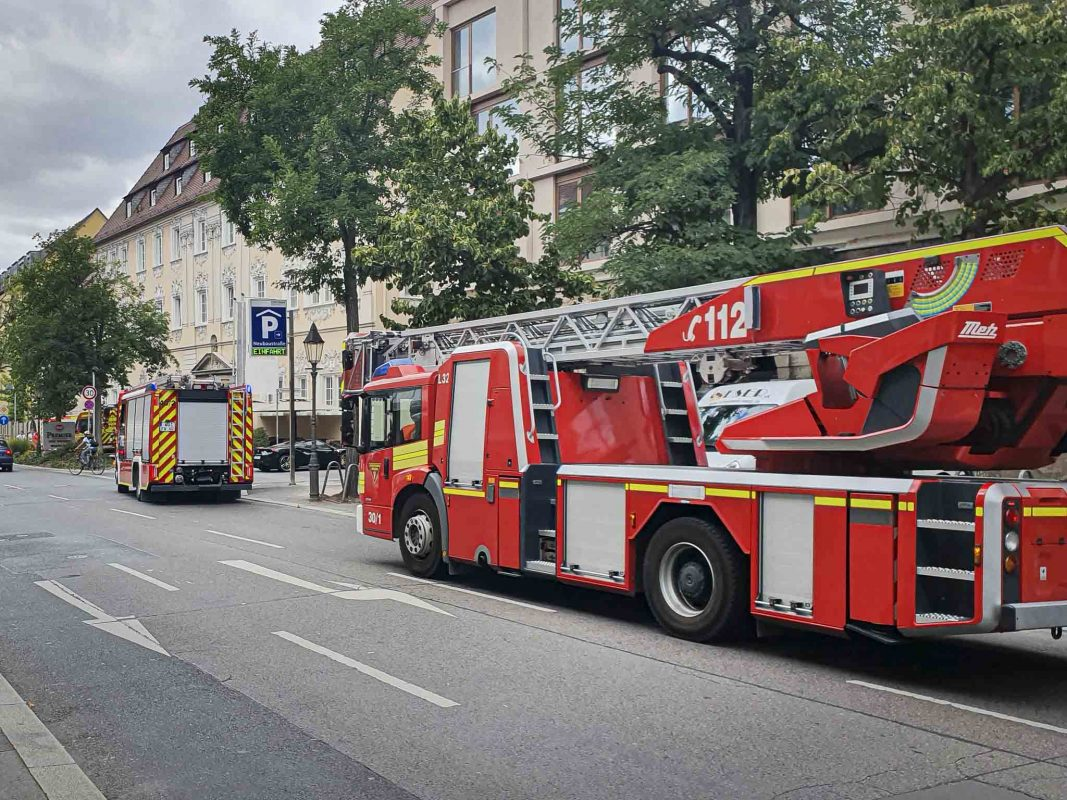 Feuerwehr im Einsatz. Foto: Dominik Ziegler