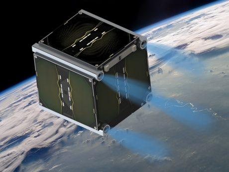 """""""UWE-4"""" hat in seiner Umlaufbahn um die Erde erfolgreich Manöver vollführt. Foto: Lehrstuhl Informatik VII / Universität Würzburg."""