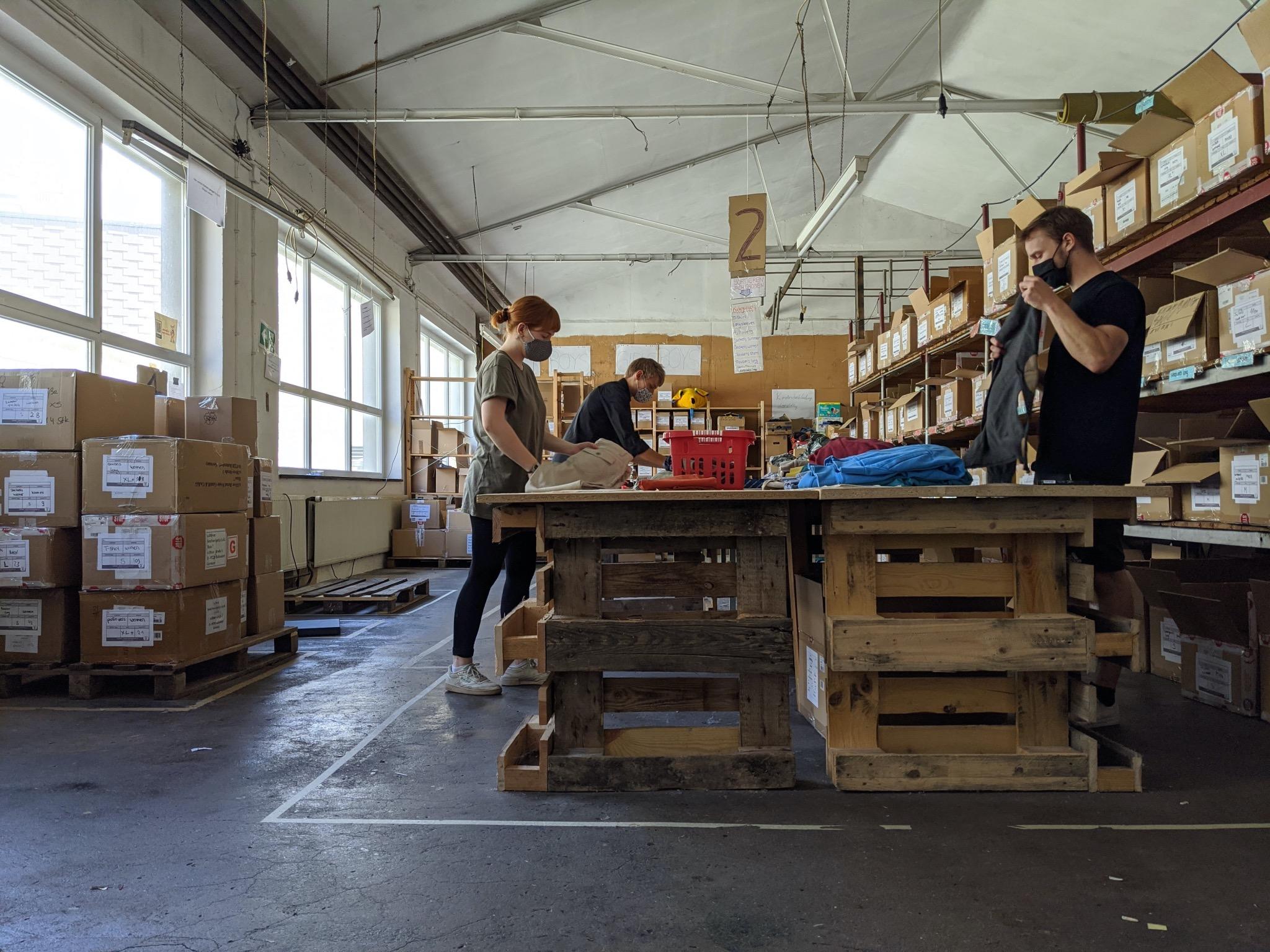 Die Helfer von HERMINE suchen dringend nach einem neuen Lagerraum. Foto: Projekt HERMINE/ Mobile Flüchtlingshilfe e.V.