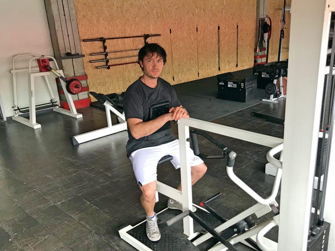Piet im neuen Gesundheitsbereich von CrossFit Würzburg. Foto: CFW