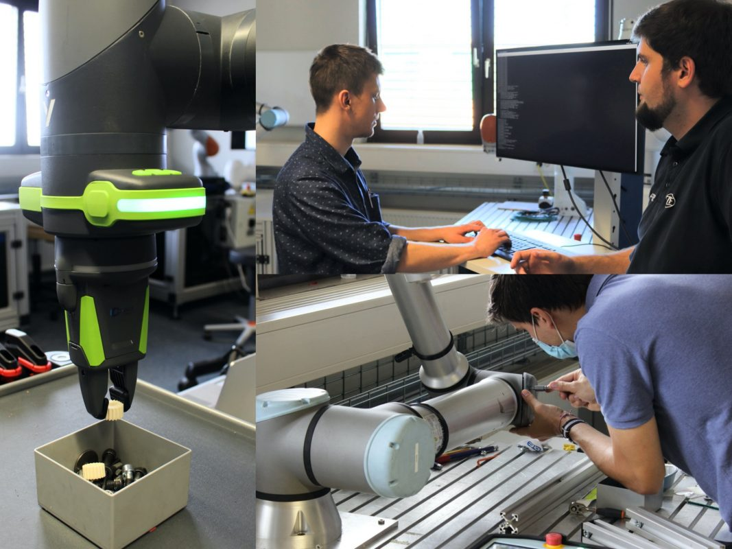 Was geschieht im Tech Center Robotic am Standort ZF Schweinfurt? Fotos: ZF