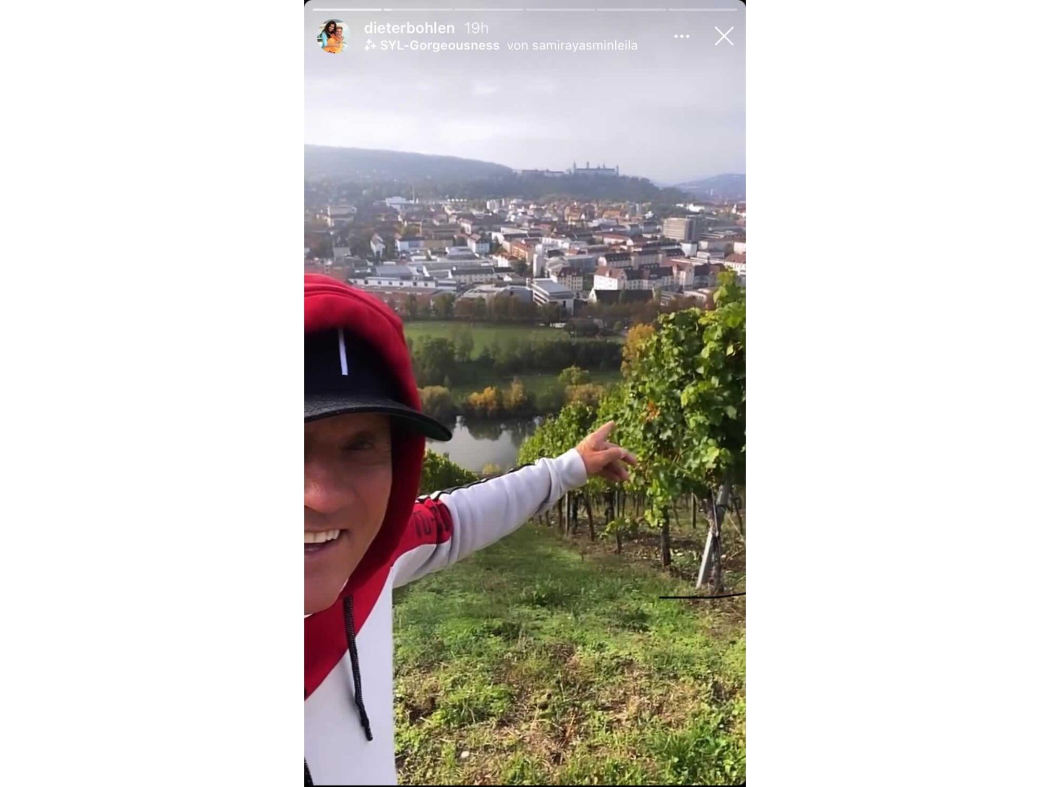 Dieter Bohlen zeigt sich in seiner Instagram Story in Würzburg. Screenshot: Instagram