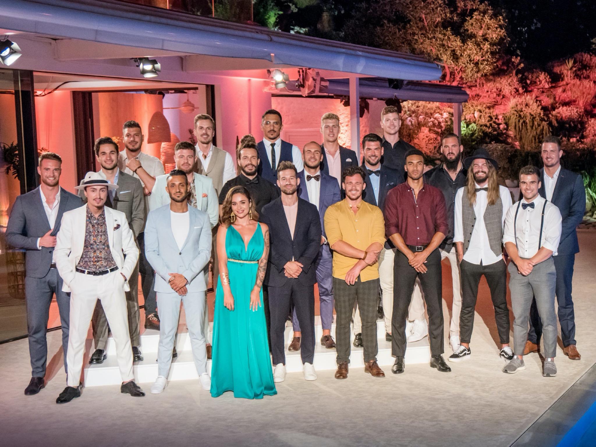 Diese Männer wollen das Herz der Bachelorette erobern. Foto: TVNOW