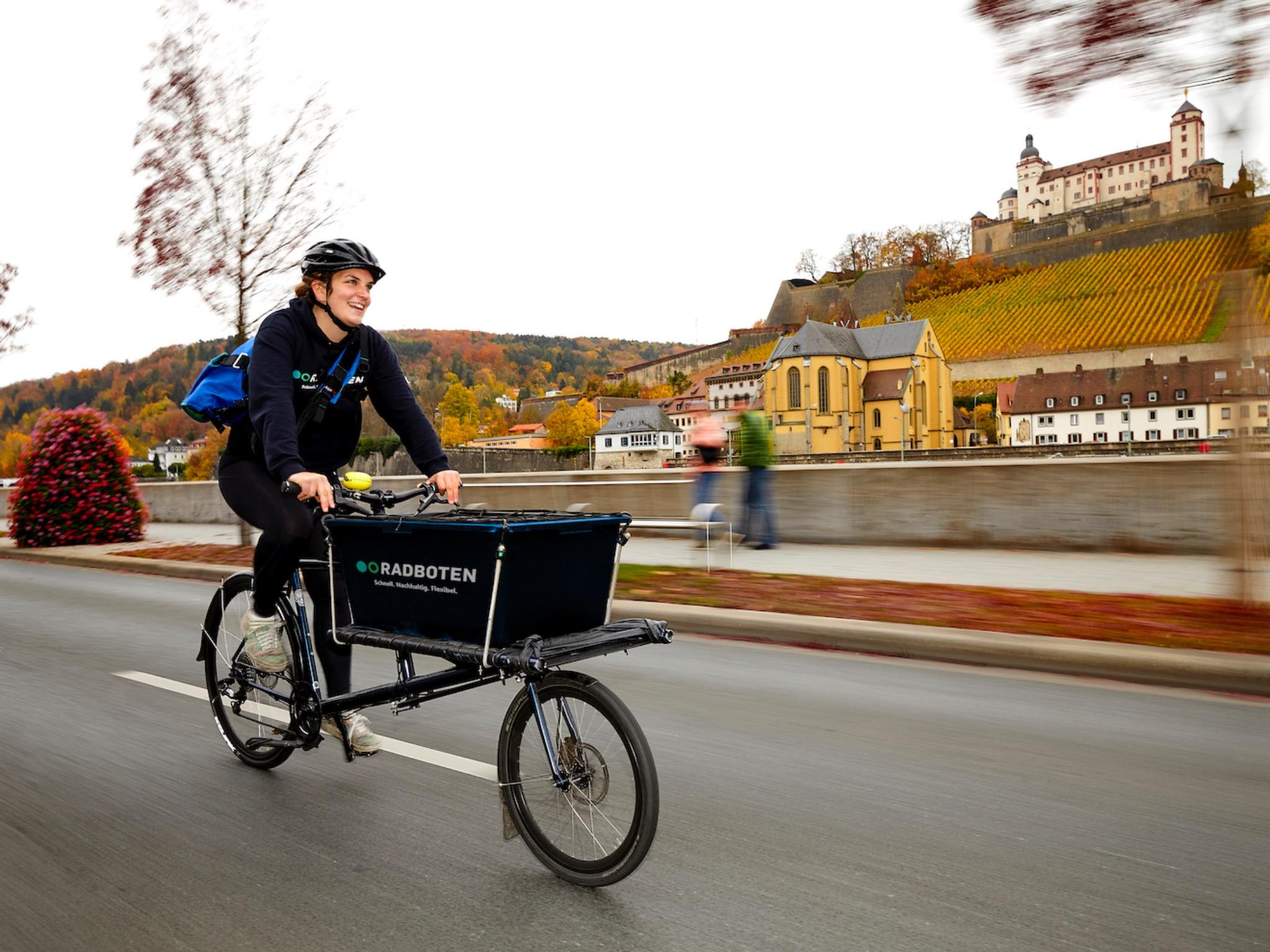 Nachhaltiger Transport mit Logistikpartner Radbote! Foto: Würzburg macht Spaß e.V.