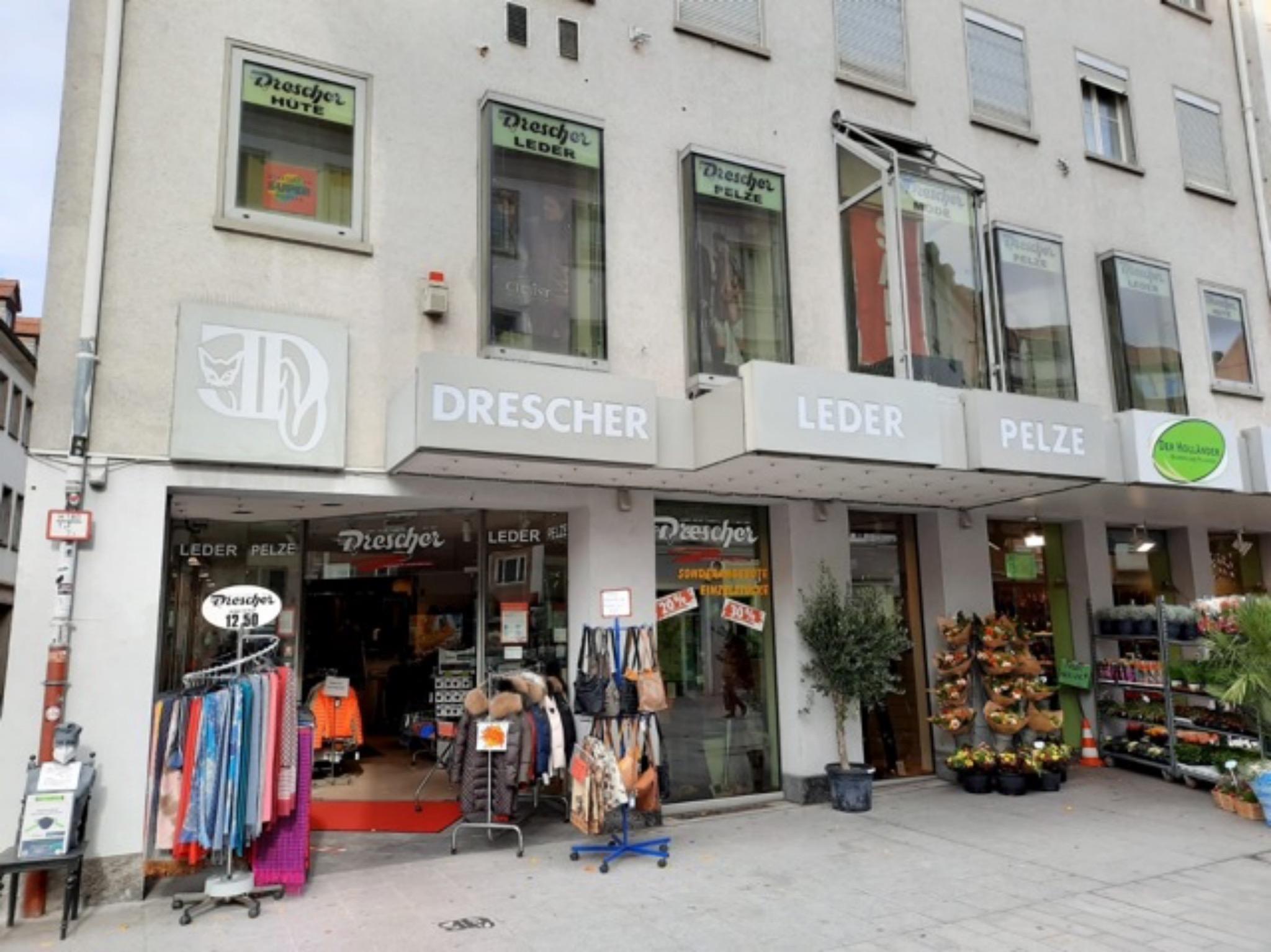 Fast 100 Jahre später: der heutige Laden in der Würzburger Eichhornstraße 15-17. Foto: Drescher