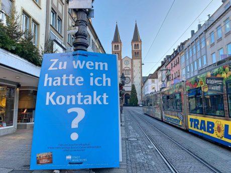 Anti-Corona-Kampagne der Stadt Würzburg. Foto: Jessica Hänse
