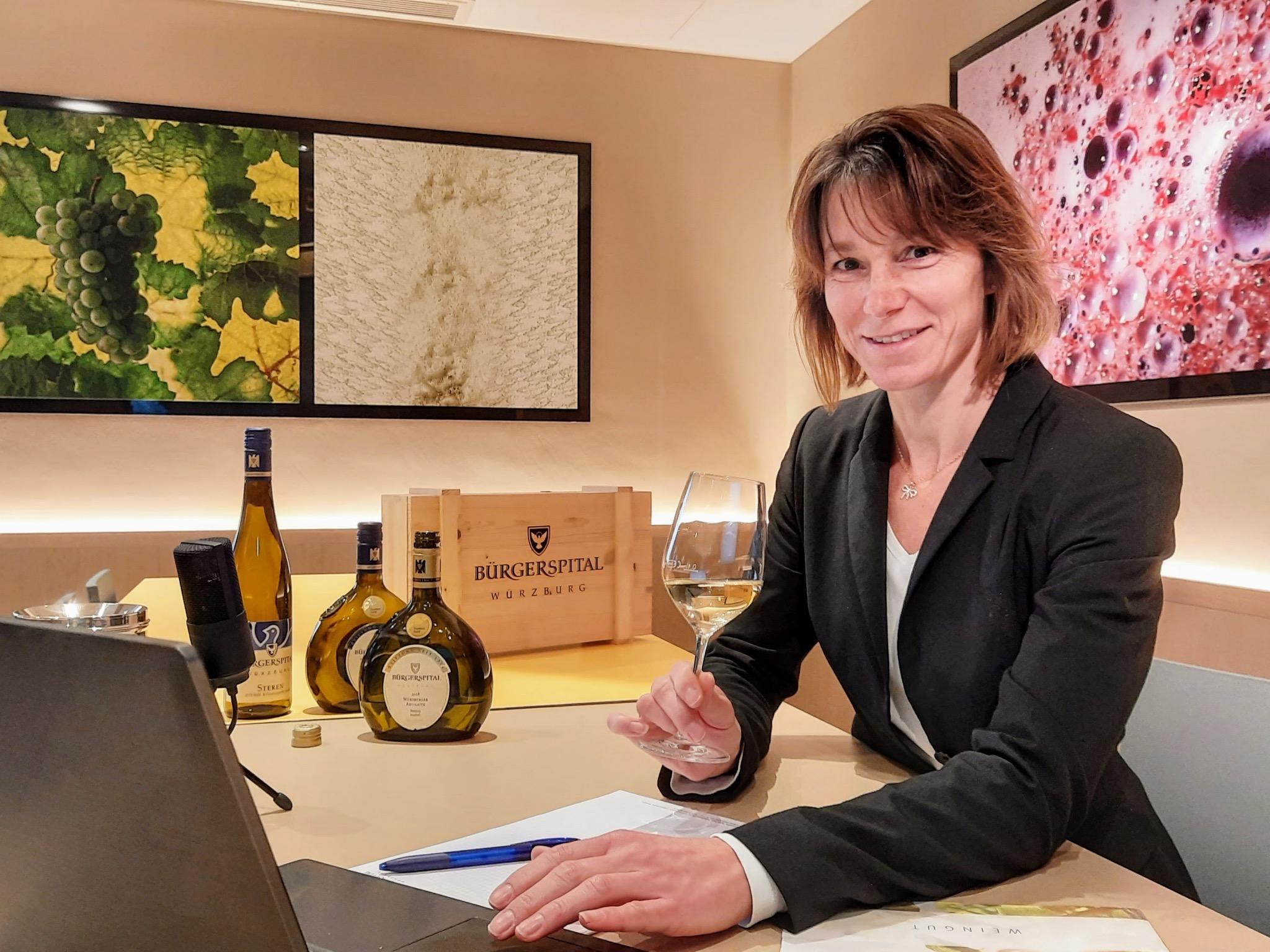Auch online sind haben Weinproben ihren Flair! Foto: Bürgerspital Weingut