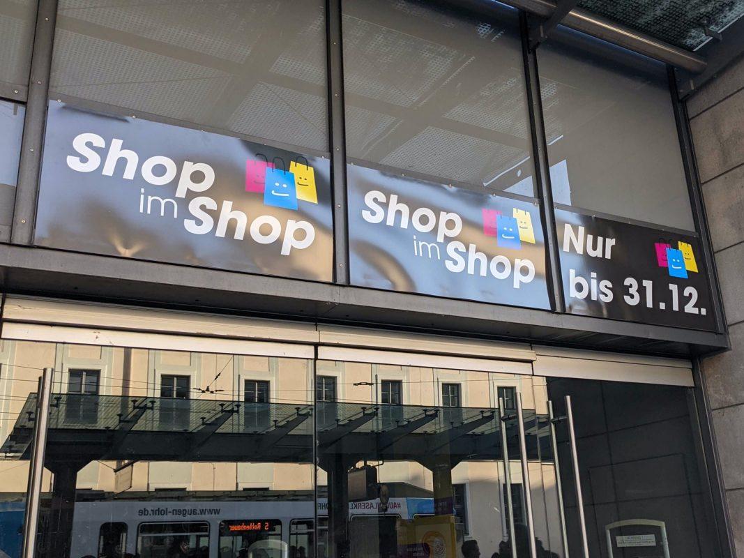 """Shop im Shop"" in der Juliuspromenade. Foto: Christian J. Papay"