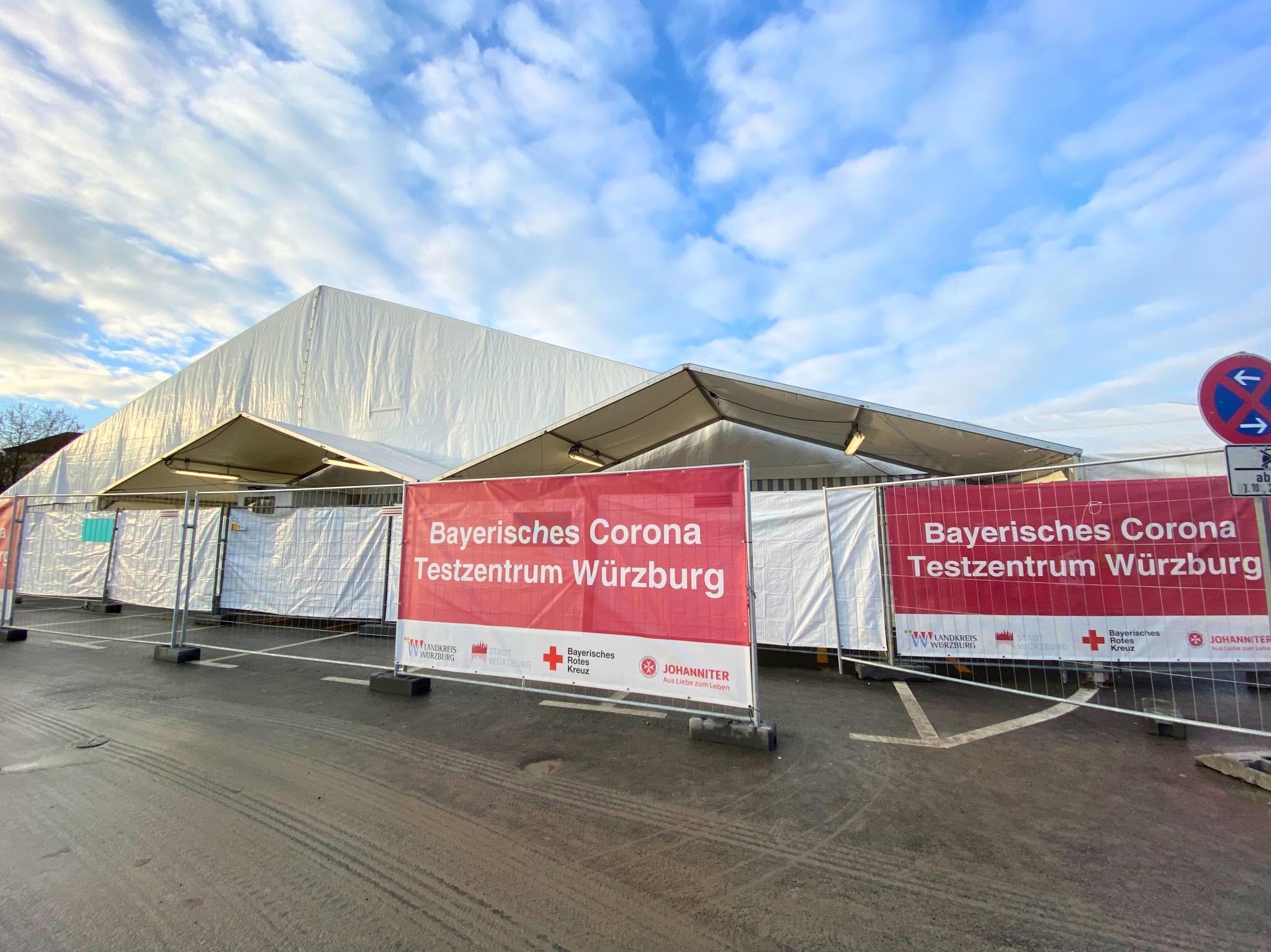 Das Bayerische Corona Testzentrum auf der Talavera. Foto: Lilli Müller