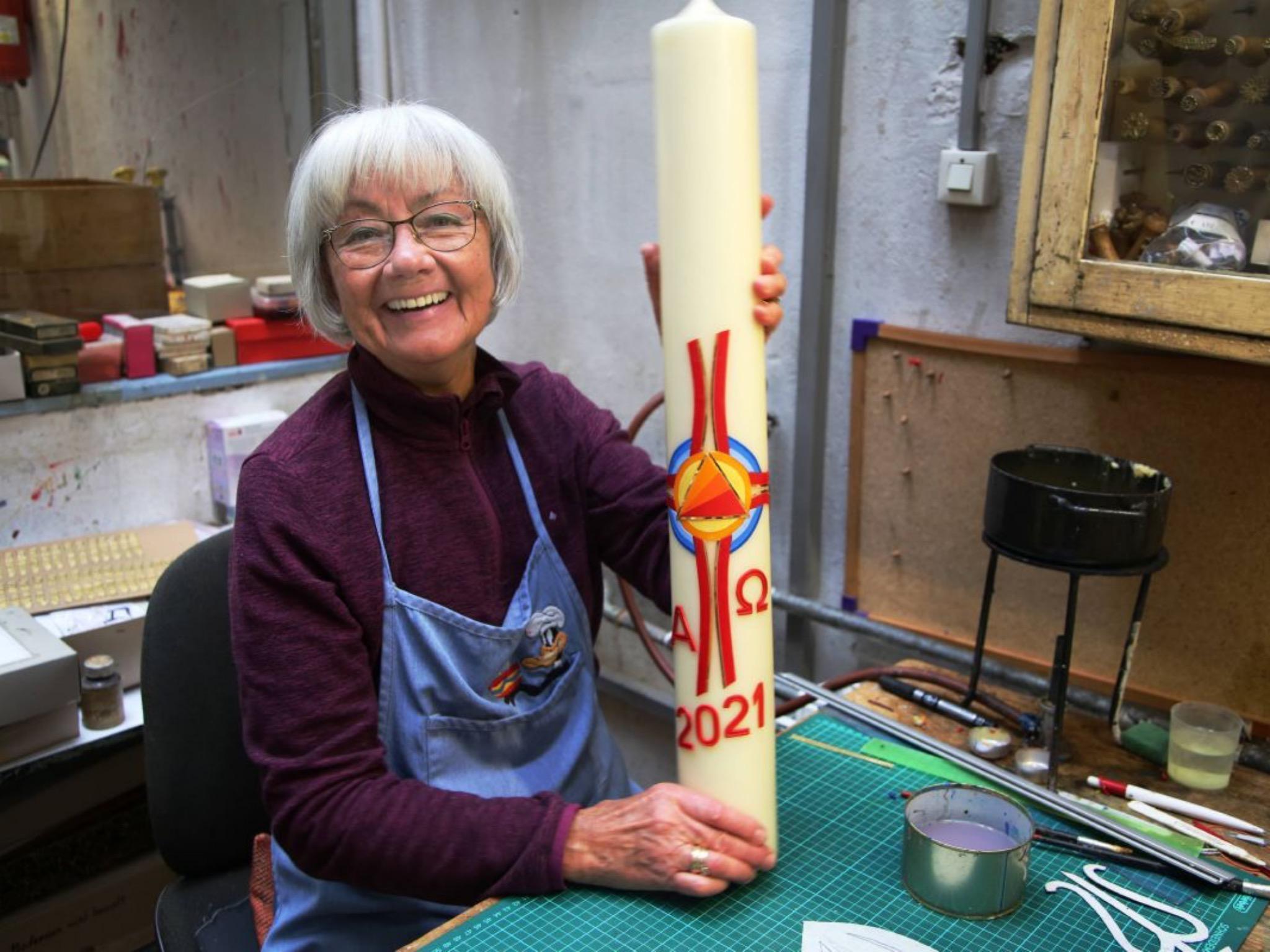 Theresia Schenk, Schenks Mutter, ist gelernte Wachsbildnerin. Foto: Magdalena Rössert (POW)