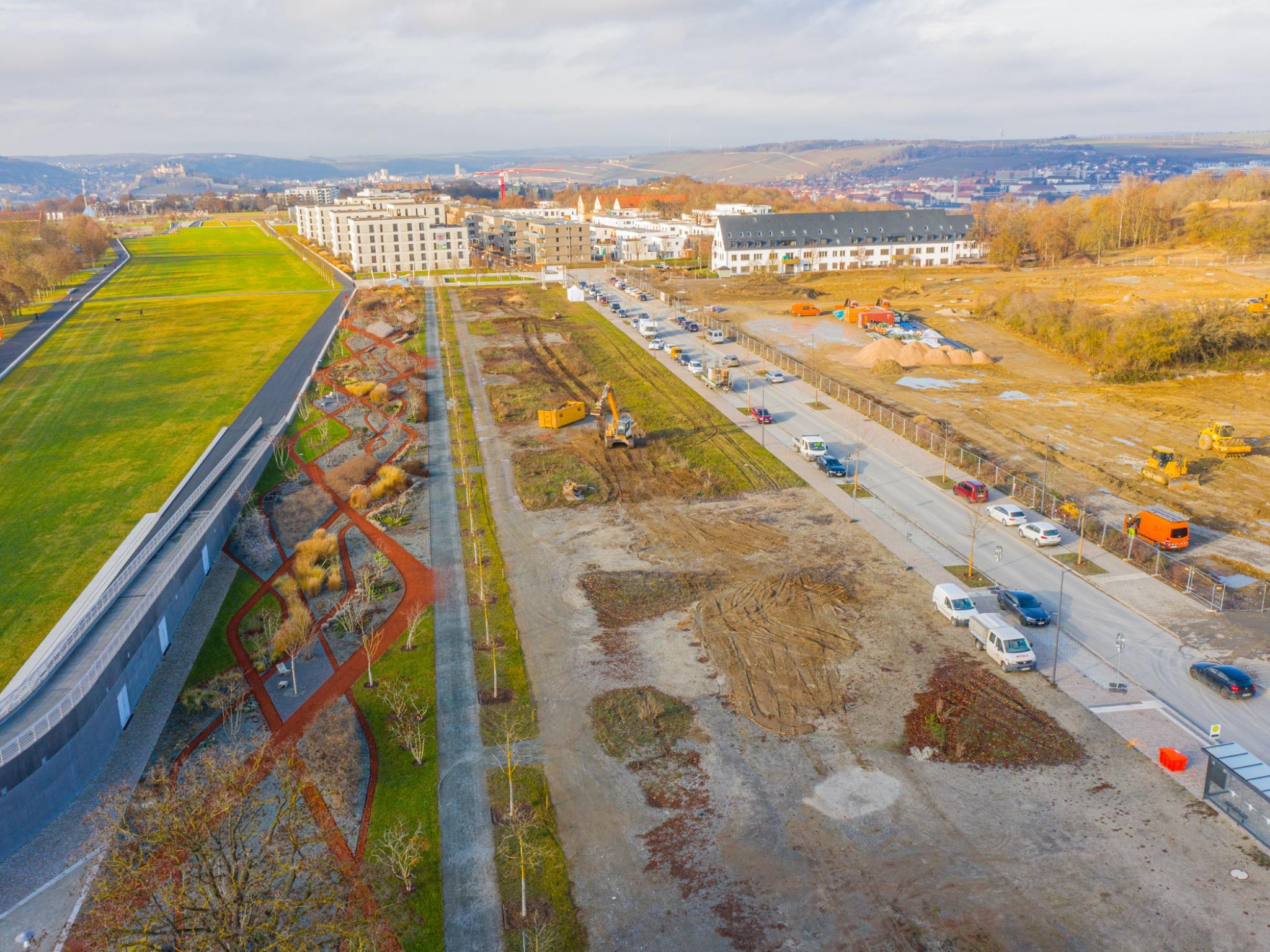Das Gelände des Projektes Hubland II. Foto: xtrakt media / Thomas Düchtel