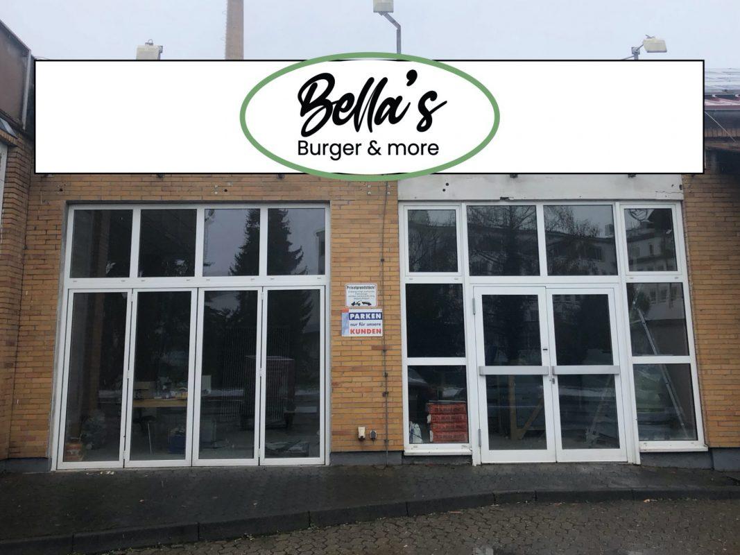 """In den ehemaligen Räumlichkeiten des Kiliansbäck entsteht der Burgerladen von Steffi """"Bella"""" Schweighöfer. Foto: Fotomontage J. Schweighöfer"""