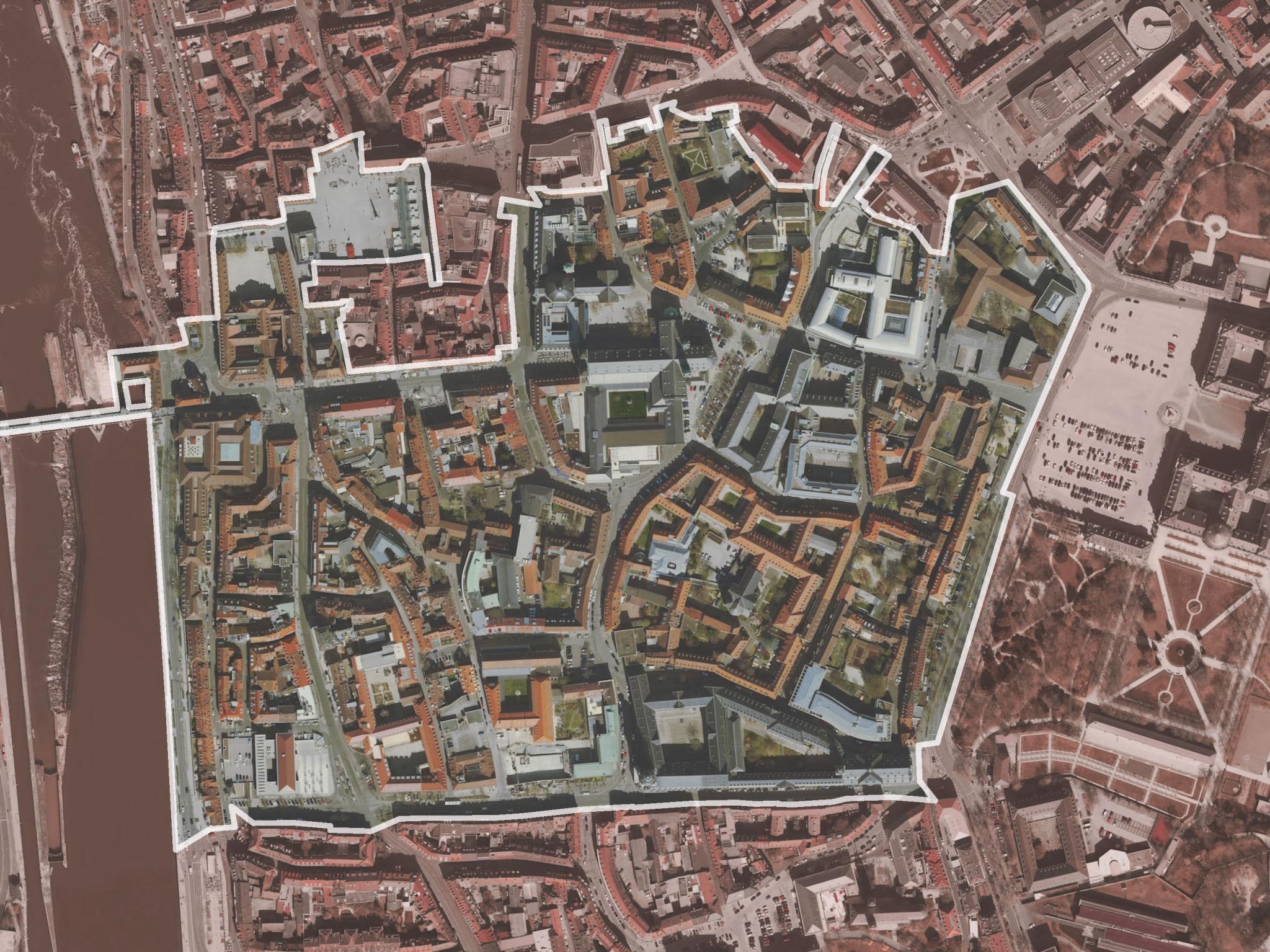 Das Gebiet des Bischofshuts in der Innenstadt. Grafik: Stadt Würzburg
