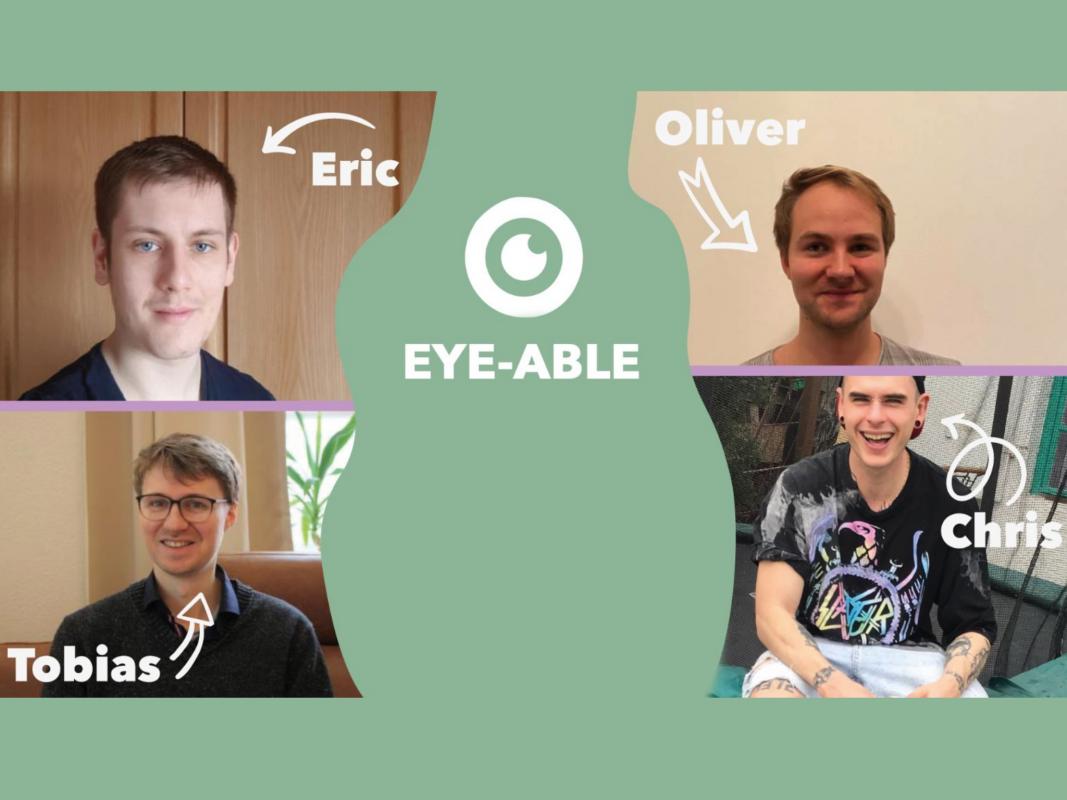 Das Gründerteam von Eye-Able. Foto: Eye-Able.