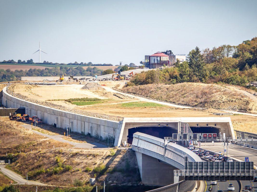 Der Katzenbergtunnel vor der Überdeckung und Begrünung. Foto: Ugur Yurdagül