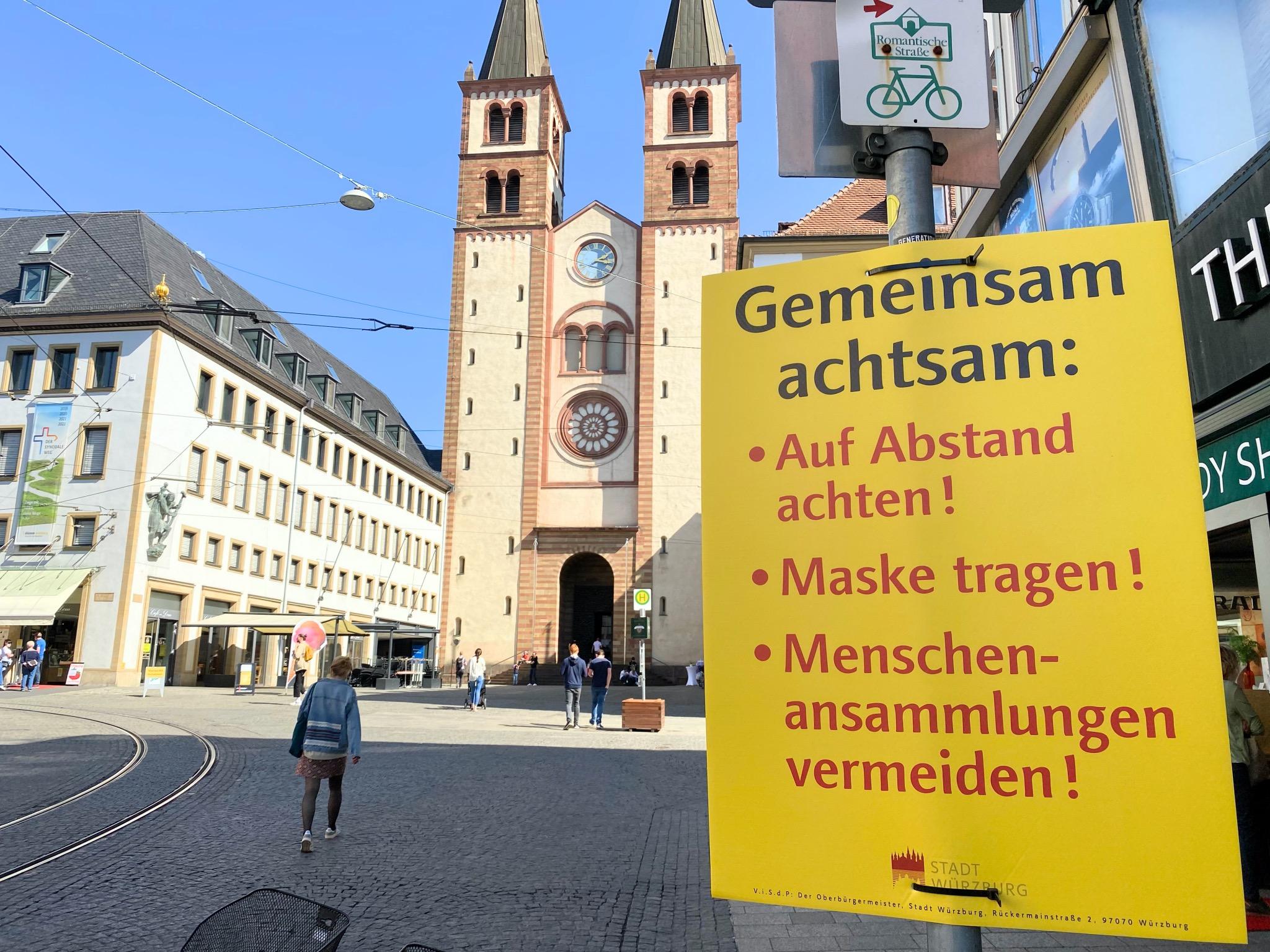 """""""Gemeinsam Achten"""" in der Domstraße. Foto: Jessica Hänse"""