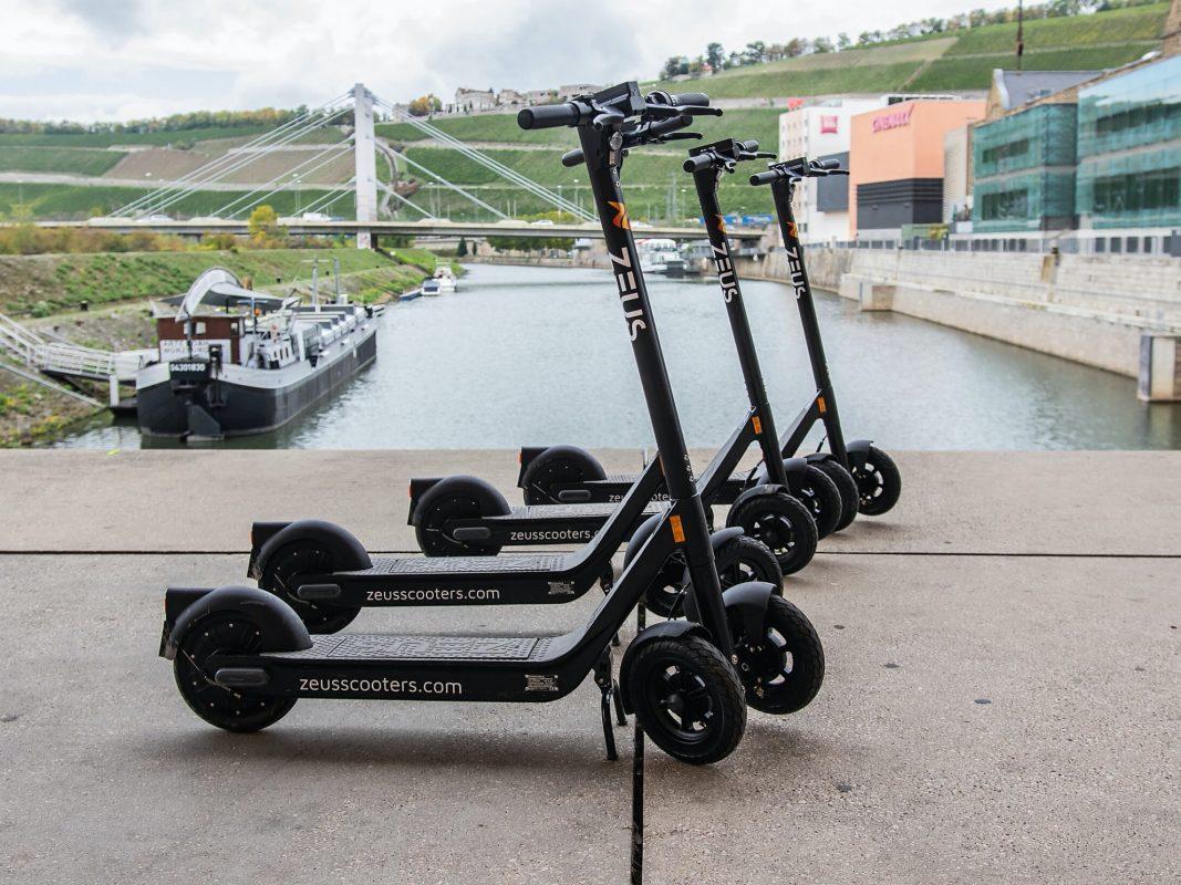 E-Scooter in Würzburg. Foto: Silvia Gralla