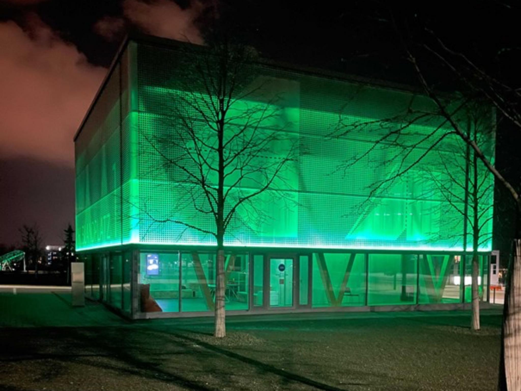 Grüner Gruß vom Hubland nach Irland. Foto: Christian Andersen