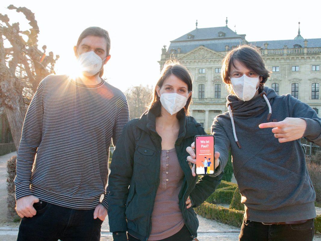 """Kristian, Alex und Lukas stecken hinter der App """"Wo ist Paul?"""". Foto: Kristian Baltruweit"""