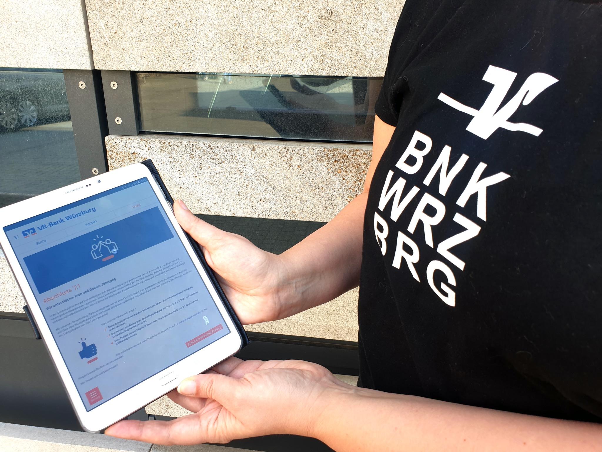 Das Crowdfunding-Portal der VR-Bank Würzburg steht 2021 auch Abschlussklassen zur Verfügung. Foto: VR-Bank Würzburg