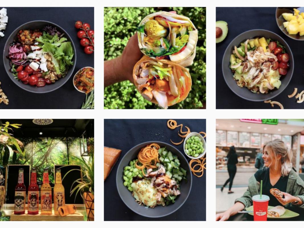 Säfte, Smoothies, Salate und Bowls: Bei immergrün dreht sich alles um gesundes Essen. Foto: Screenshot Instagram