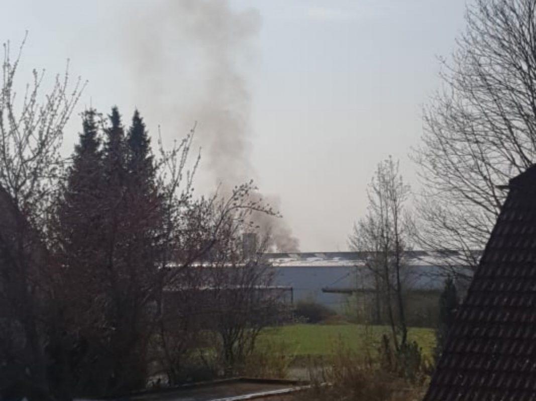 Gegen 9 Uhr brach in einem Firmengebäude in der Bavariastraße ein Feuer aus. Foto: Silke Totzauer